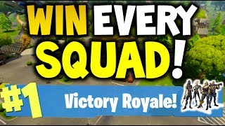 How to win every time : FORTNITE Battle Royale  - SQUAD - EASY -  Xbox One, Playstation 4 or PC