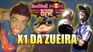 X1 DA ZUEIRA #2 - ZOIO JOGANDO LOL E TIN CAMPEÃO DO RED BULL PLAYER ONE/