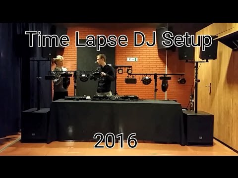 Time lapse mobile DJ setup - Drive-in show