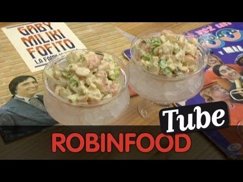 ROBINFOOD / Cóctel de gambas Fofó + Bocata de pollo frío