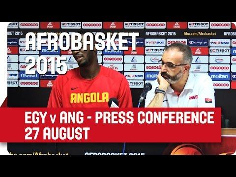 Egypt v Angola - Post-Game Press Conference - AfroBasket 2015