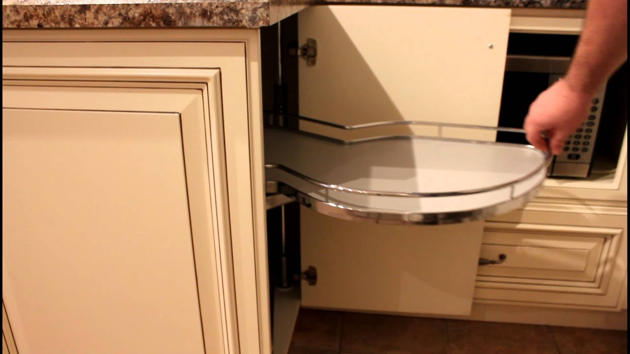 Windmill blind cabinet with lemans swing out unit youtube for Blind corner systems for kitchen cabinets