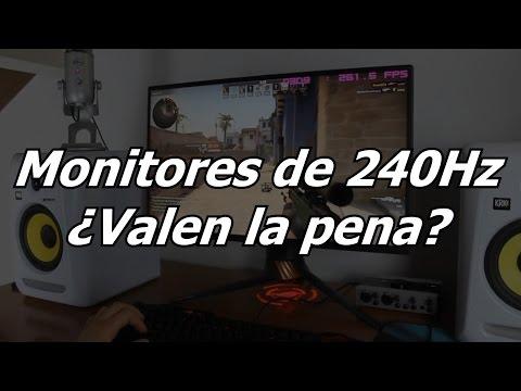 Monitores 240Hz ¿Valen la pena? ¿hay diferencia en comparación a uno de 144Hz/165Hz/180Hz? OPINIÓN