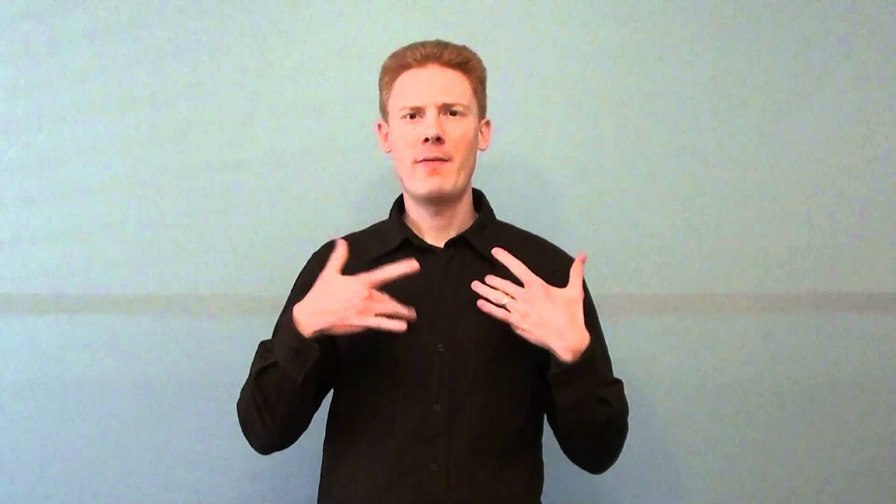 how to say and in auslan