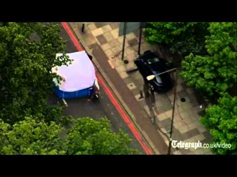 Aerial view of Woolwich 'machete attack' crime scene