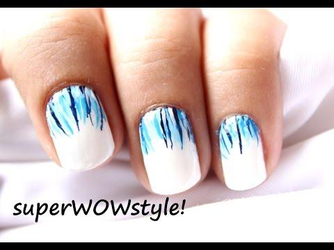 Like a Waterfall ❤ Easy Nail Designs & Easy Short Nails Tutorial (Prachi Agarwal Nail Art)