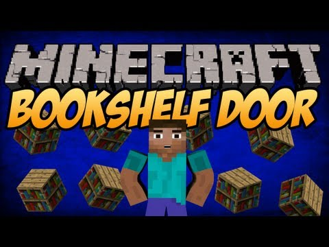 #Minecraft 1.8 - Best Piston bookshelf door [Tutorial]