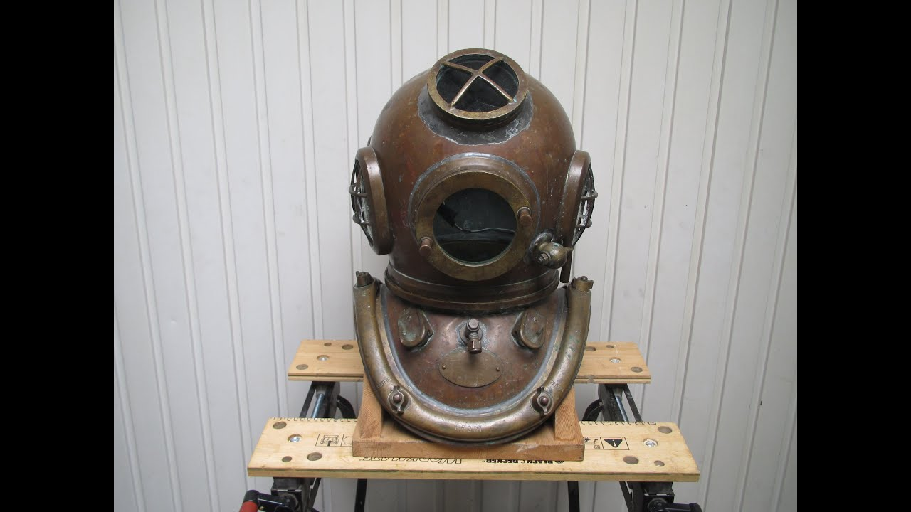 FullSize US Navy Mark V Copper amp Brass Diving Helmet