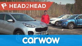 Nissan Qashqai vs Hyundai Tucson vs Kia Sportage SUV 2017 review | Head2Head