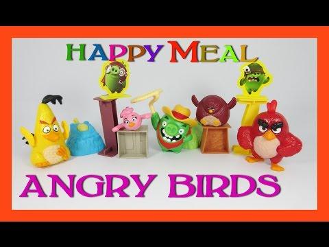 รีวิวของเล่น แองกี้เบิร์ด แฮปปี้มีล ชุด 1-5 (EP.1)    Happy Meal Angry Birds Toys