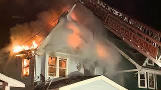 Cleveland firefighter injured while battling east side house fire