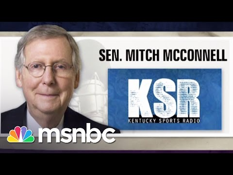 Mitch McConnell's Angry Radio Interview | msnbc