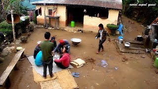 Villagers are Playing time pass fun game    Life in Village from Nepal