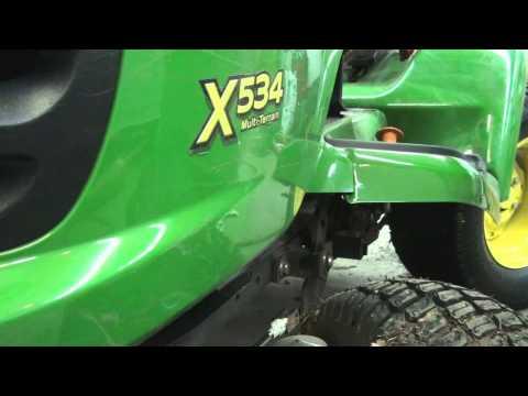 John Deere 534 snowblower install 12 3 2013