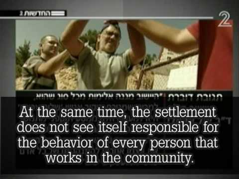 Settler assaults Peace Now volunteers, Channel 2 news broadcast