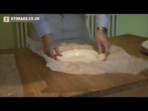 Wrapping A Bowl And Plates