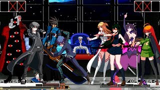 Kof Mugen Anime Mens Team VS Anime Womens Team