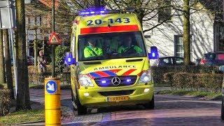A1: Ambulance 20-143 is met spoed onderweg naar een spoedmelding in Moergestel