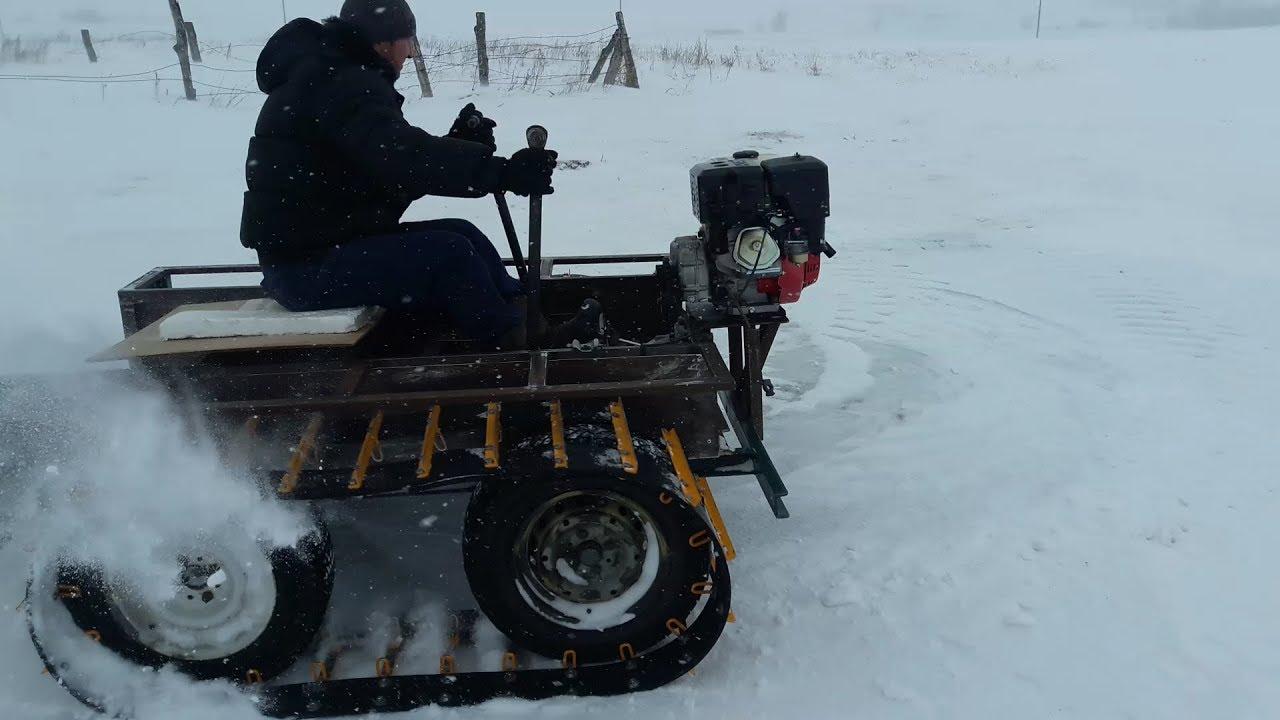 Снегоход своими руками из мотоблока 86