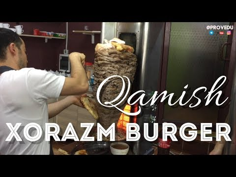 Xorazm Burger. Кафе Qamish. Ташкент Узбекистан (Фантастик Саркастик  2017)