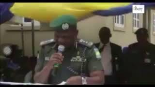 Viral Video Of IG Of Police Nigeria Struggling To Read Speech In Kano