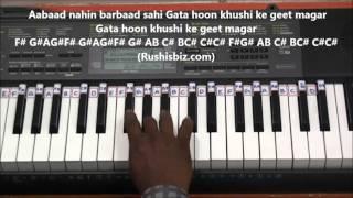 Awara Hoon......Awaara Hoon..... FULL SONG !!! - Piano Tutorials