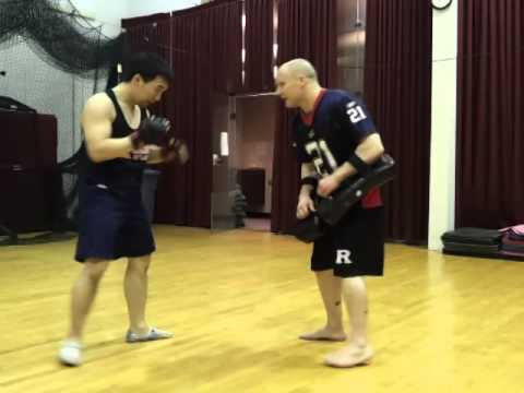 MMA Pad-Work Striking Training Image 1