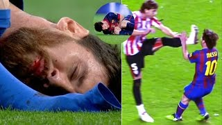 Players Hunting on Lionel Messi ● Horror Tackles ● Brutal Fouls | HD