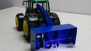 Rc snow blower homemade rear tractor john deere.(francais)