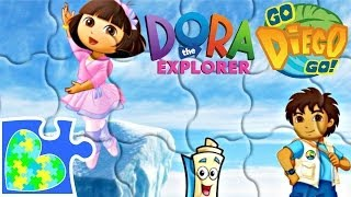 DORA DANCES FOR DIEGO, BOOTS, BACKPACK, AND MAP PUZZLE VIDEO FOR KIDS!