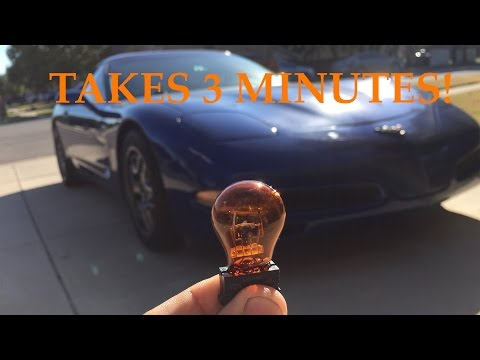 Changing a DRL Bulb on a C5 Corvette Z06