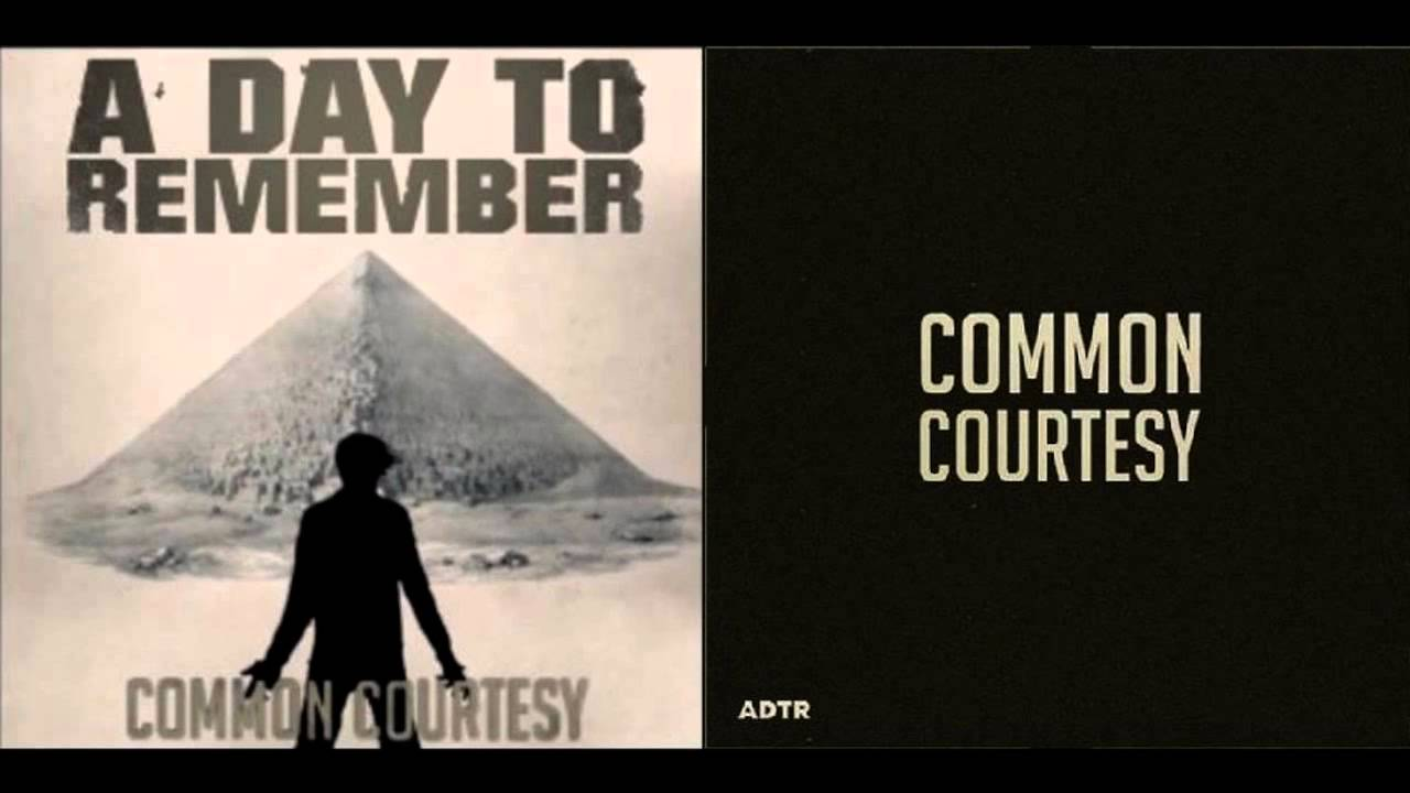 A Day To Remember - Right Back  A Day To Remember Common Courtesy Cd
