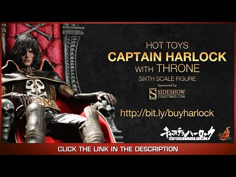 Space Pirate Captain Harlock Hot Toys Captain Harlock With Throne Of Arcadia 1/6 Scale Figure Review