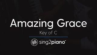 Amazing Grace Key Of C Piano Karaoke Instrumental