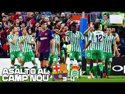 ASALTO AL CAMP NOU!! | Barcelona 3-4 Real Betis | Mi opinión, pizarra