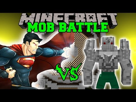 SUPERMAN VS DOOMSDAY Minecraft Mod Battle Mob Battles Minecraft Mods