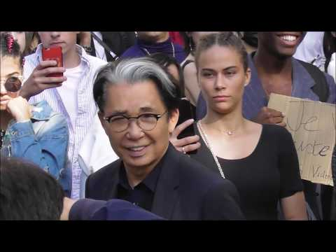 Fashion designers Kenzo Takada & Virgil Abloh @ Paris 23 june 2018 Fashion Week / show Dior
