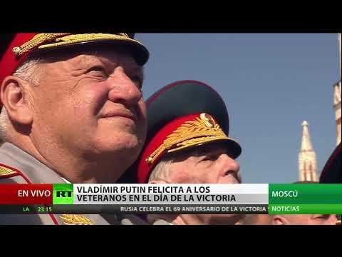El desfile militar en la Plaza Roja de Moscú celebra la victoria sobre el nazismo