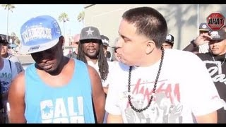 Venice Beach AHAT Rap Battle | Scheme vs Yak Da Rippa | Las Vegas vs Los Angeles