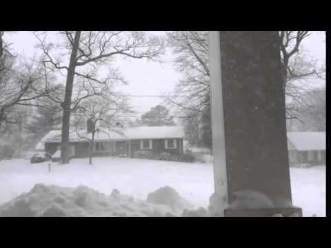 Snowstorm in the suburbs of Washington DC 2016 - Powerful Snowstorm Hits US East Coast