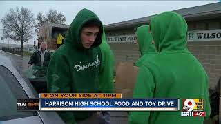 Harrison students spread holiday cheer in annual canned food drive