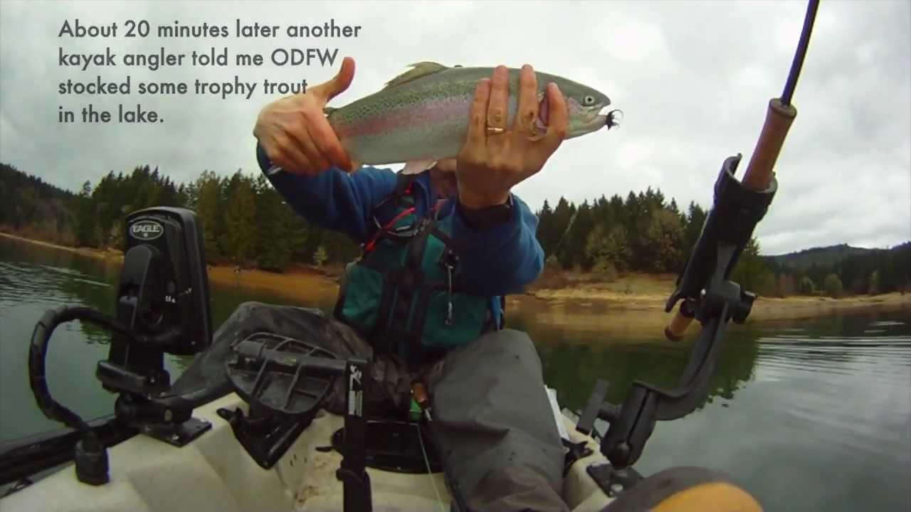 2013 trout season opener at hagg lake in the hobie kayak for Henry hagg lake fishing