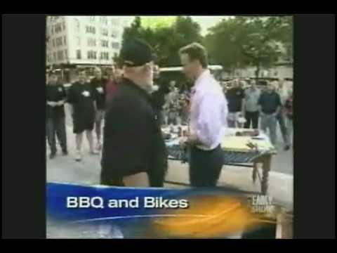 "Chef Paul Kirk ""The Baron of BBQ"" RUB BBQ Motorcycle"