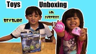 Toys Unboxing LOL Surprise Dolls Beyblade   Foodie Babies Nico & Suri