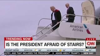 CNN: Is Trump afraid of stairs?