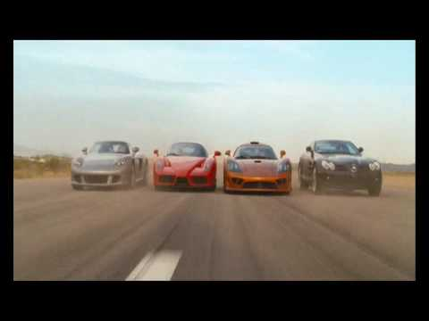 Redline clip - Race between Ferrari Carrera GT SLR