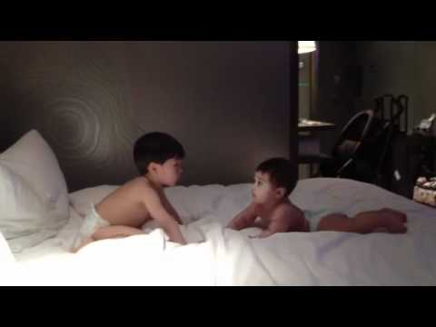 Brothers in diapers - YouTube