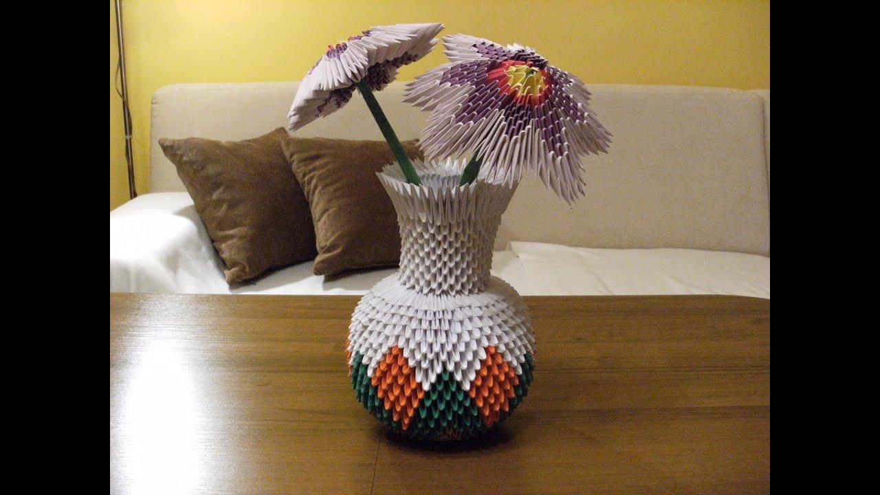 Оригами из бумаги ваза из модулей