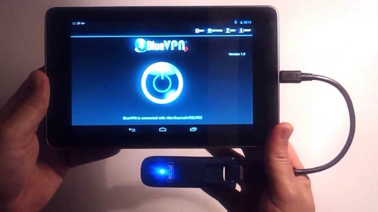 bluevpn connect nexus 7 to internet with a usb stick. Black Bedroom Furniture Sets. Home Design Ideas