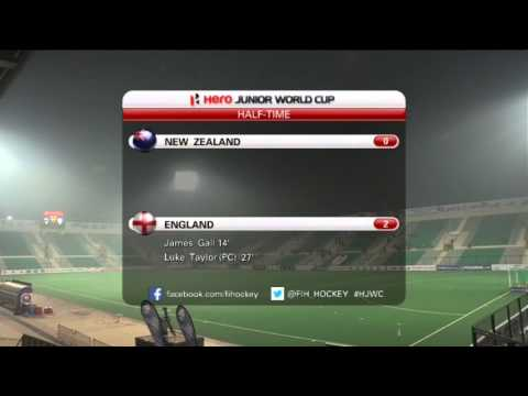 New Zealand vs England - Men's Hero Hockey Junior World Cup India Groups Stage [08/12/2013]